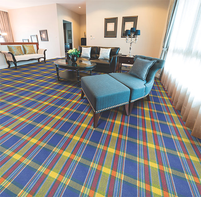 Plaid Carpet Is Back In Style