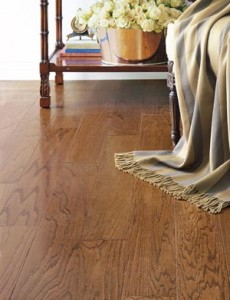Prefinished hardwood flooring
